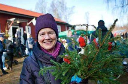 Estelle Eriksen från skånska Dalby var på besök för att hälsa på släktingar och uppskattade vad Belganet hade att erbjuda. FOTO: JOHAN HULTGREN